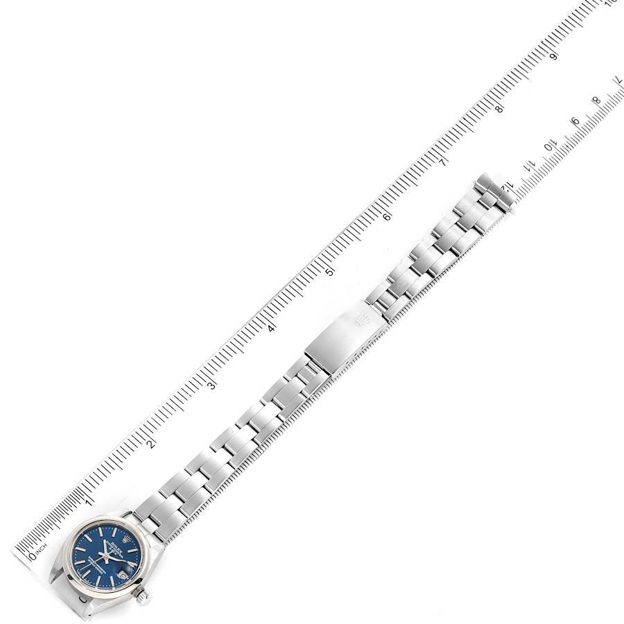 Rolex Date Blue Dial Oyster Bracelet Steel Ladies Watch 6916 SwissWatchExpo
