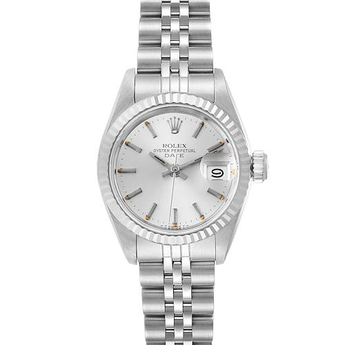 Rolex Date Steel White Gold Jubilee Bracelet Ladies Watch 69174