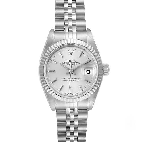 Photo of Rolex Datejust Steel White Gold Jubilee Bracelet Ladies Watch 69174 Papers