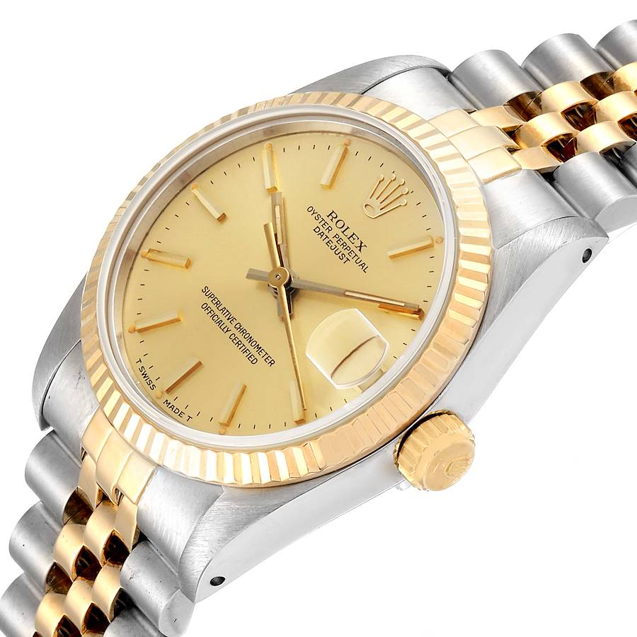 Rolex Datejust Midsize 31mm Steel Yellow Gold Ladies Watch 68273 SwissWatchExpo
