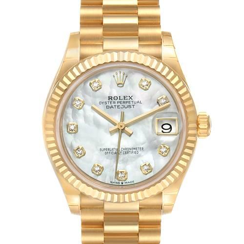 Photo of Rolex President Midsize Yellow Gold Diamond Ladies Watch 278278 Unworn