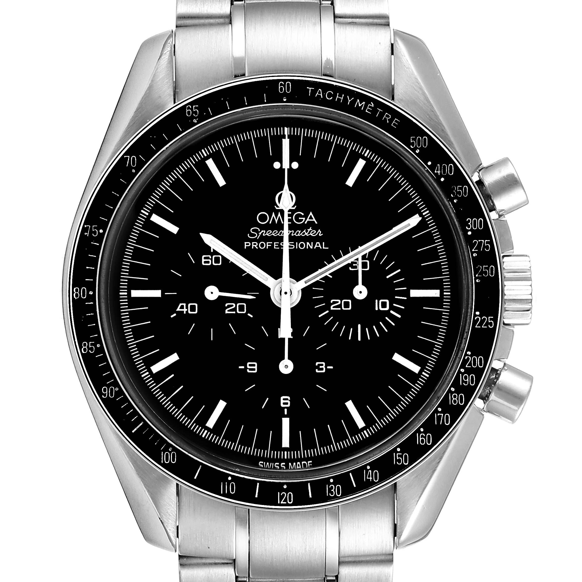 Omega Speedmaster Chronograph Black Dial Mens MoonWatch 3570.50.00 Card SwissWatchExpo