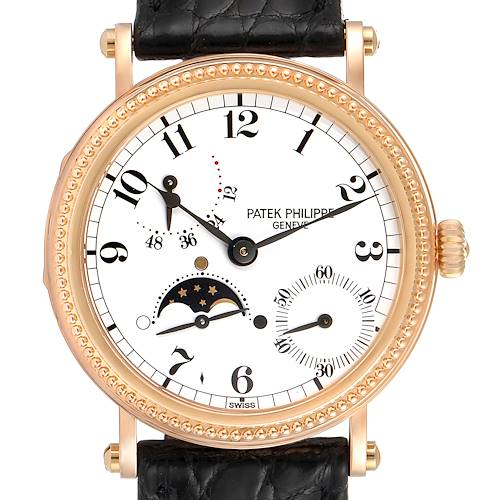 Photo of Patek Philippe Calatrava Rose Gold Moon Phase Power Reserve Watch 5015