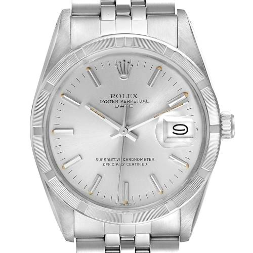 Photo of Rolex Date Stainless Steel Silver Dial Vintage Mens Watch 15010