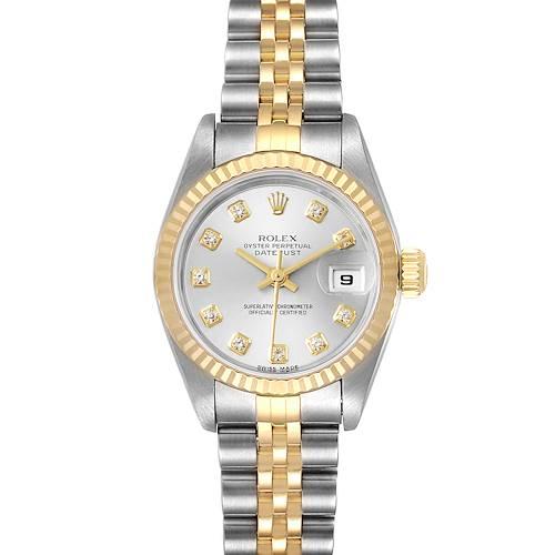 Photo of Rolex Datejust 26 Steel Yellow Gold Diamond Ladies Watch 79173