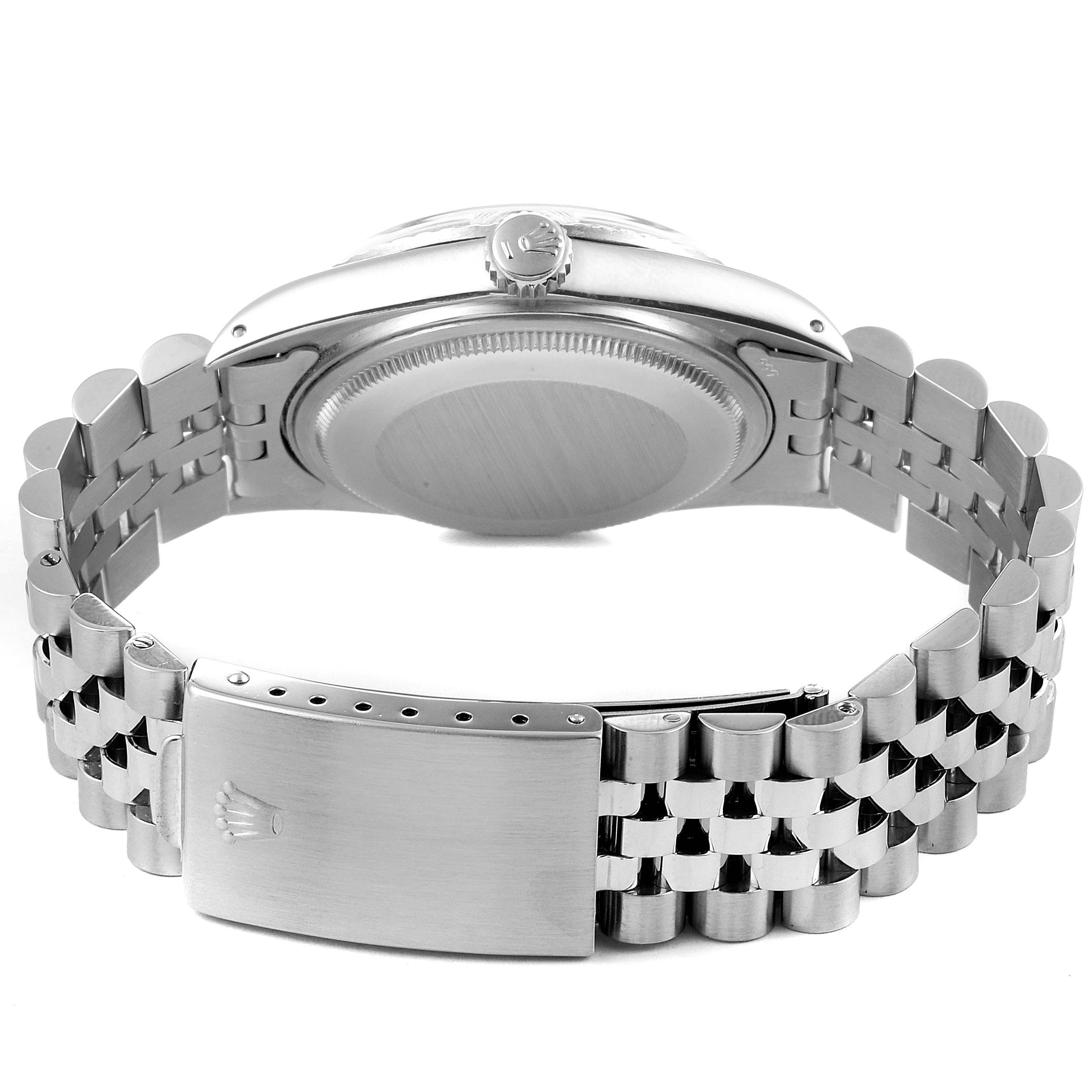 Rolex Datejust Silver Dial Vintage Steel Mens Watch 16030 SwissWatchExpo