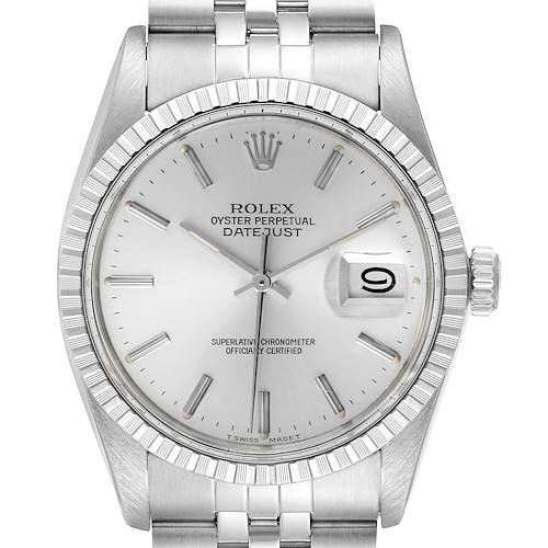 Photo of Rolex Datejust Silver Dial Vintage Steel Mens Watch 16030