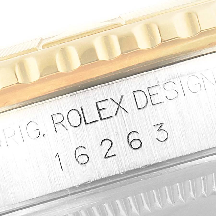 Rolex Datejust Turnograph Steel Yellow Gold Mens Watch 16263 SwissWatchExpo