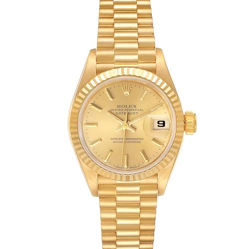 Photo of Rolex President Datejust 18K Yellow Gold Ladies Watch 69178 Papers