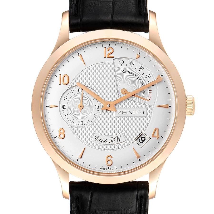 Zenith Reserve De Marche Elite HW 18k Rose Gold Mens Watch 11.1125.655 SwissWatchExpo