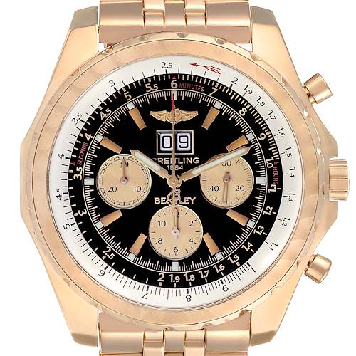 Photo of Breitling Bentley 6.75 Rose Gold Black Dial Chronograph LE Watch H44363
