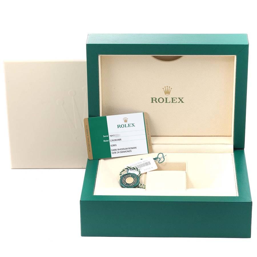 Rolex Datejust 36 Steel Rose Gold Diamond Unisex Watch 126281 Unworn SwissWatchExpo