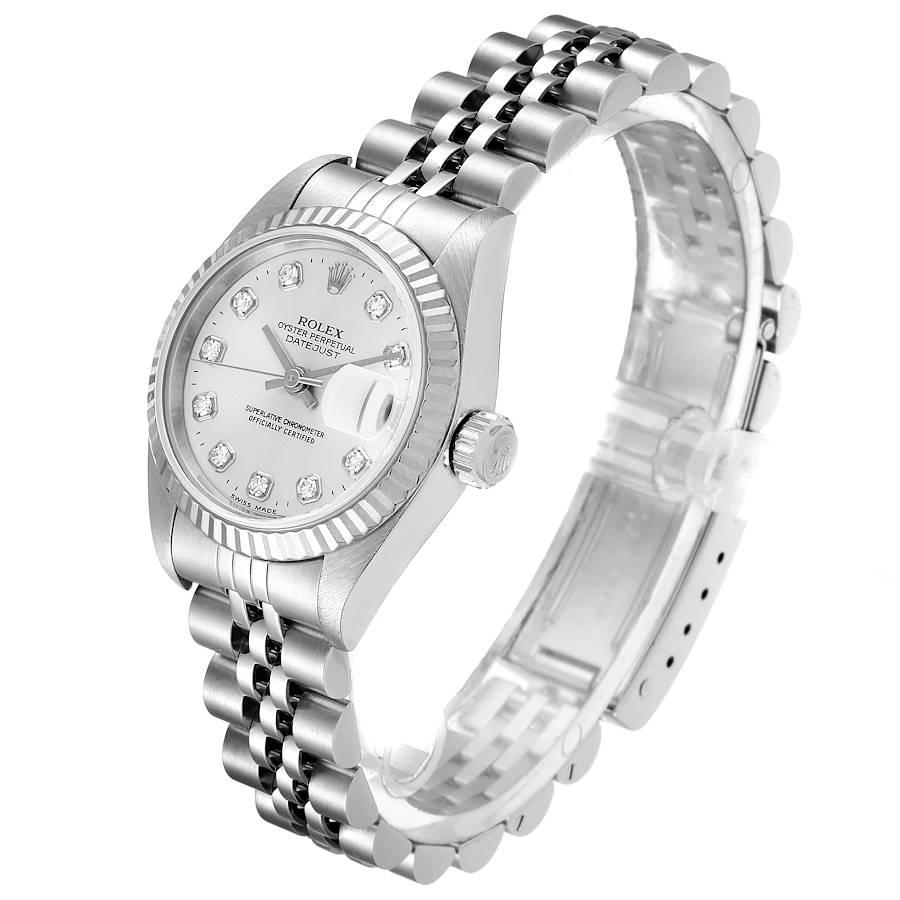 Rolex Datejust Steel White Gold Diamond Ladies Watch 79174 SwissWatchExpo