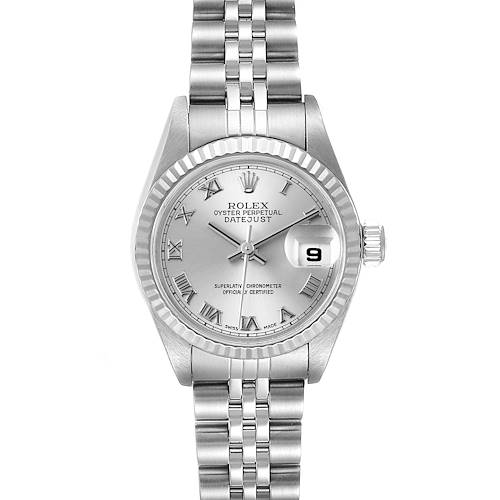 Photo of Rolex Datejust Steel White Gold Silver Dial Ladies Watch 79174