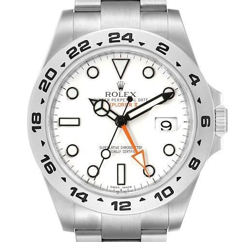 Photo of Rolex Explorer II 42 White Dial Orange Hand Mens Watch 216570 Box