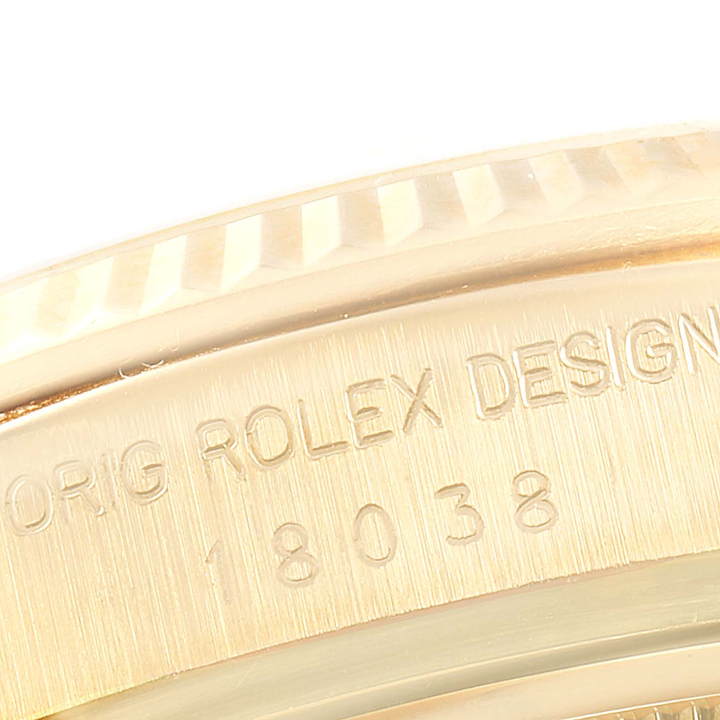 Rolex President Day-Date 36mm Yellow Gold Tapestry Dial Mens Watch 18038 SwissWatchExpo