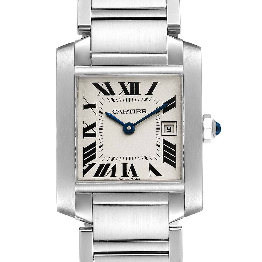 Cartier Tank Francaise Midsize 25mm Ladies Watch W51011Q3 Box SwissWatchExpo