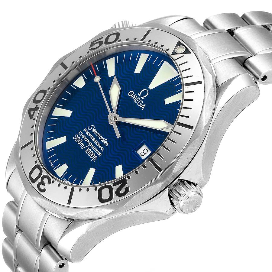 Omega Seamaster 300M Blue Dial Steel Mens Watch 2255.80.00 Card SwissWatchExpo