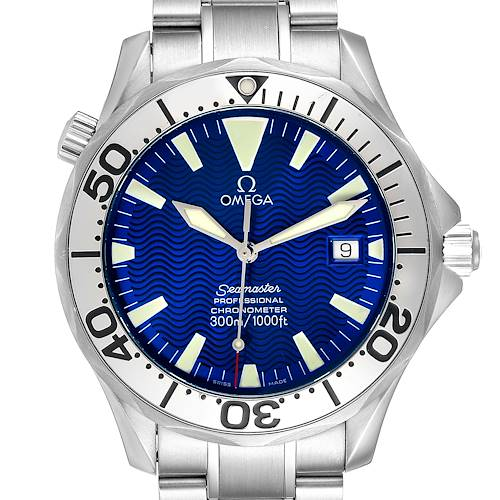 Photo of Omega Seamaster 300M Blue Dial Steel Mens Watch 2255.80.00 Card