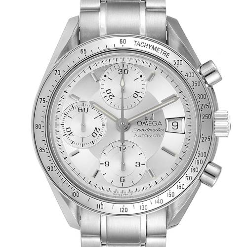 Photo of Omega Speedmaster Date Silver Dial Automatic Steel Mens Watch 3513.30.00