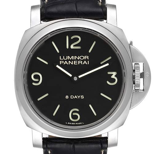 Photo of Panerai Luminor Base 8 Days Acciaio 44mm Mens Watch PAM00560 Box Papers