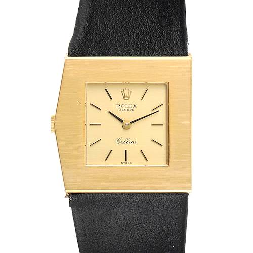Rolex Cellini Midas Yellow Gold Champagne Dial Vintage Mens Watch 4017