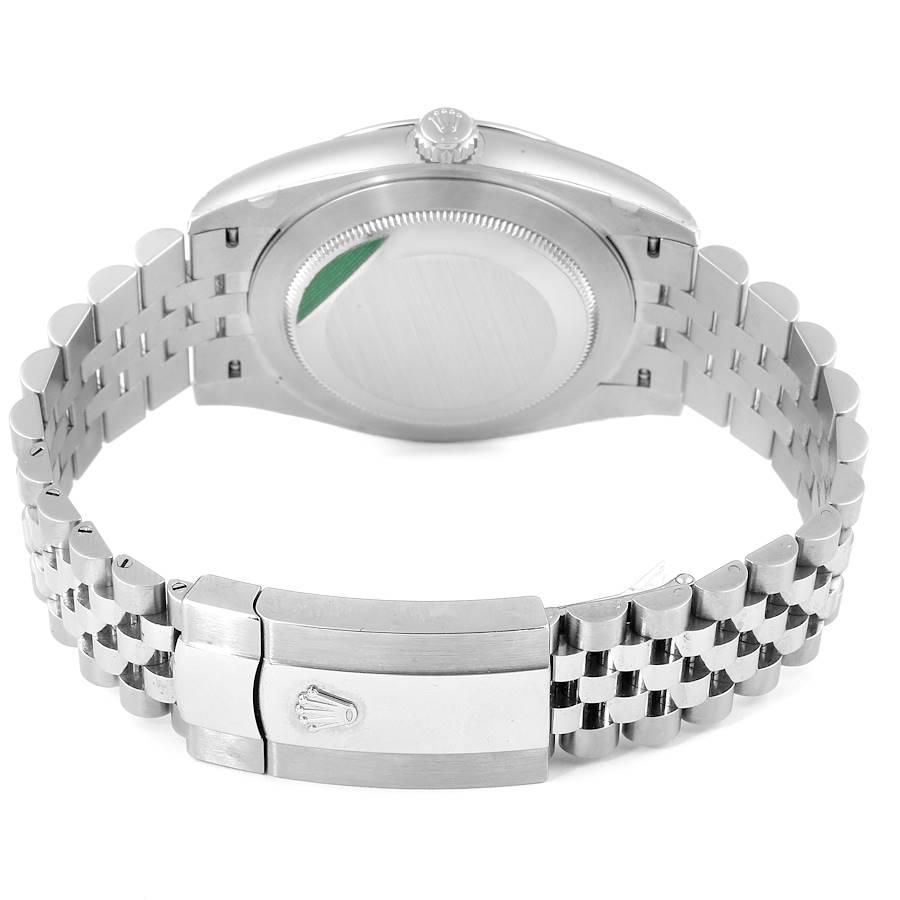 Rolex Datejust 41 Steel White Gold Black Dial Mens Watch 126334 Unworn SwissWatchExpo