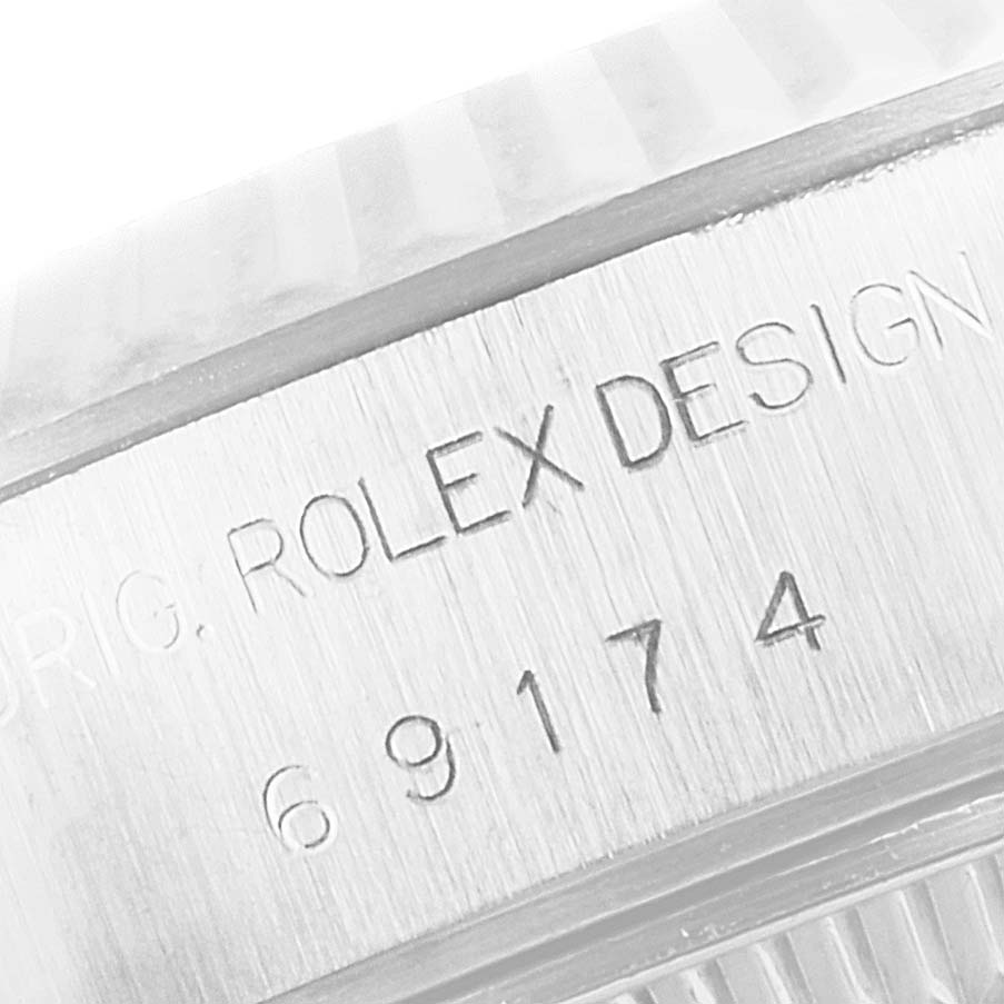 Rolex Datejust Steel White Gold Jubilee Bracelet Ladies Watch 69174 SwissWatchExpo