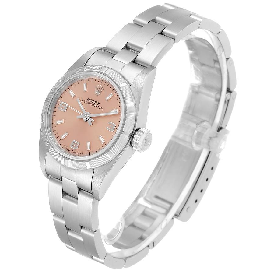 Rolex Oyster Perpetual Salmon Dial Oyster Bracelet Ladies Watch 67230 SwissWatchExpo