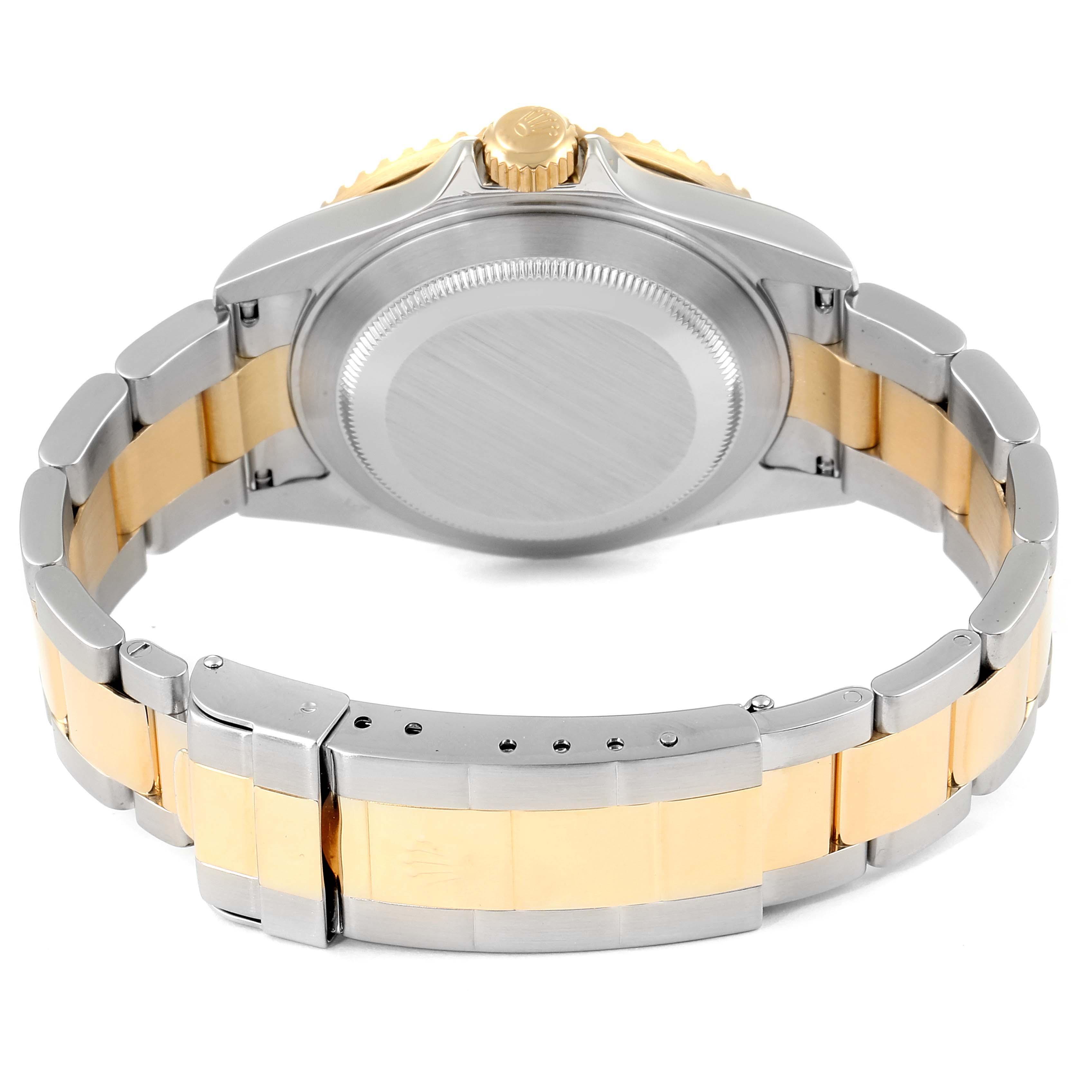 Rolex Submariner Black Dial Bezel Steel Yellow Gold Mens Watch 16613 SwissWatchExpo