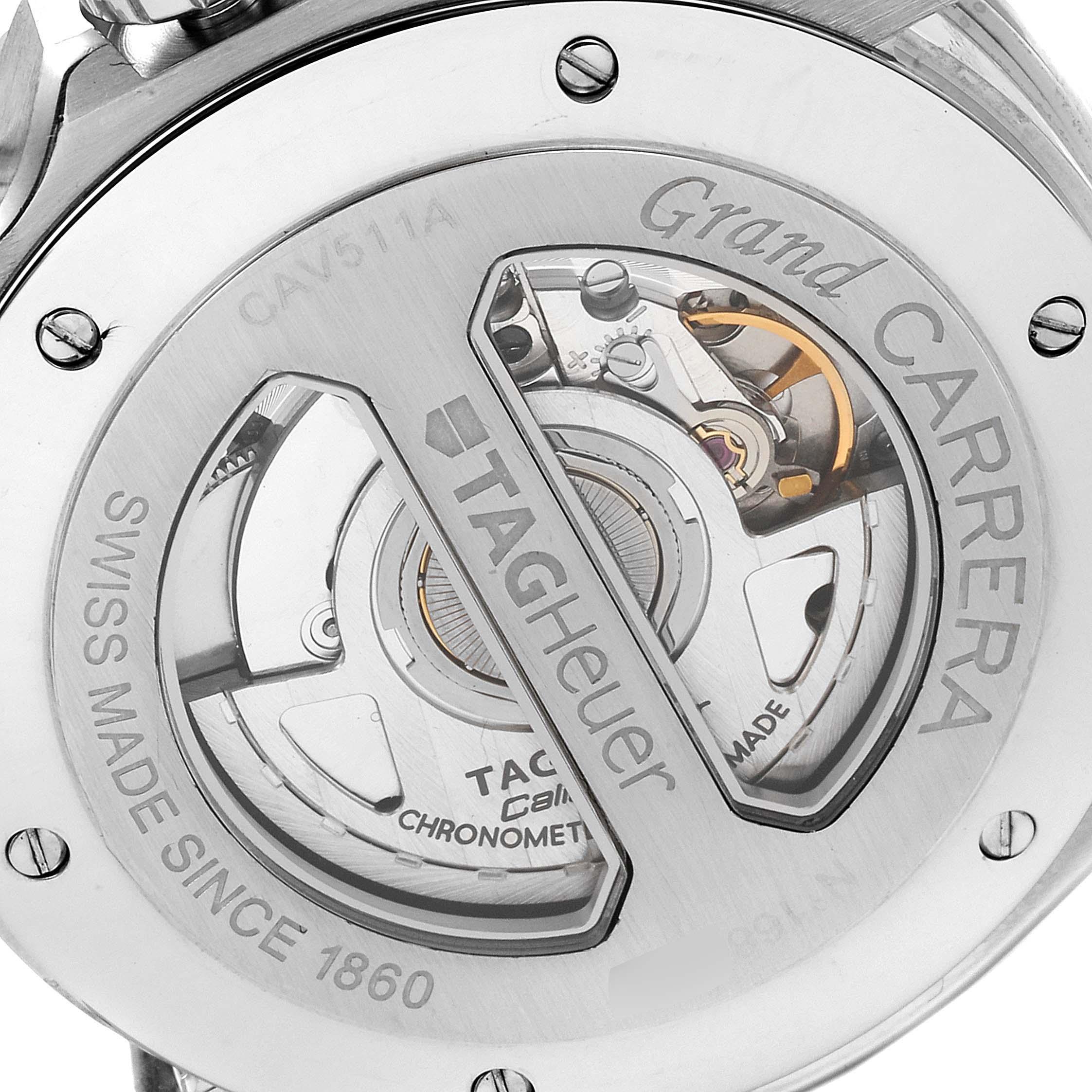 Tag Heuer Grand Carrera Black Dial Automatic Mens Watch CAV511A Box SwissWatchExpo