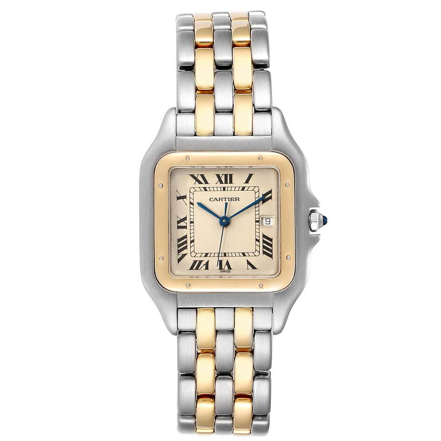 Cartier Panthere Jumbo Steel Yellow Gold Two Row Unisex Watch 187957 PARTIAL PAYMENT SwissWatchExpo