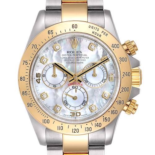 Photo of Rolex Daytona Yellow Gold Steel MOP Diamond Watch 116523 Box PARTIAL PAYMENT LISTING NITYA