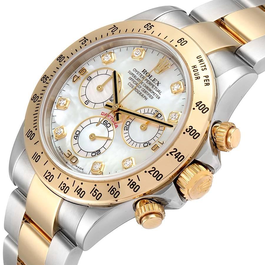 Rolex Daytona Yellow Gold Steel MOP Diamond Watch 116523 Box PARTIAL PAYMENT LISTING NITYA SwissWatchExpo
