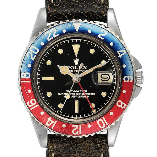 Photo of Rolex GMT Master Red and Blue Pepsi Bezel Vintage Mens Watch 1675