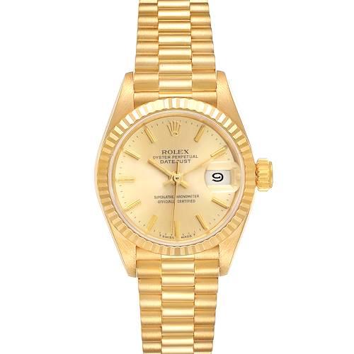 Photo of Rolex President Datejust 18K Yellow Gold Ladies Watch 69178