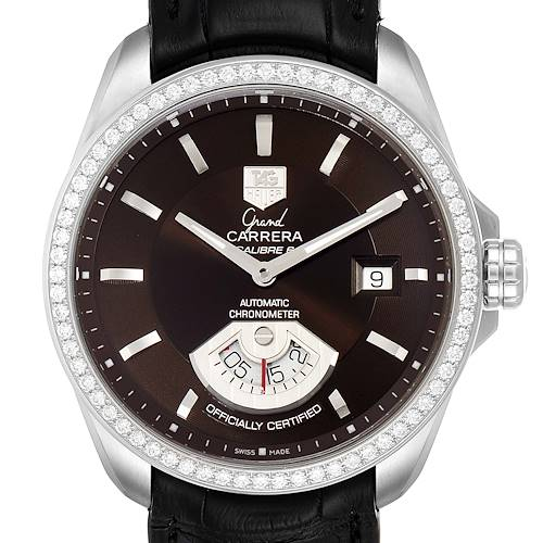 Photo of Tag Heuer Grand Carrera Date Brown Dial Steel Mens Watch WAV511E