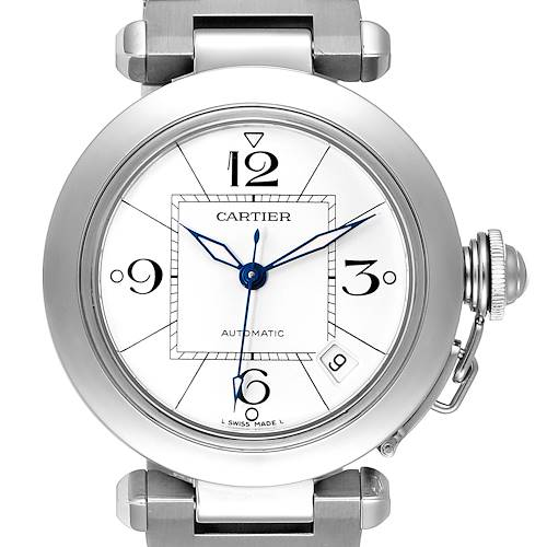 Photo of Cartier Pasha C White Dial Automatic Steel Unisex Watch W31074M7