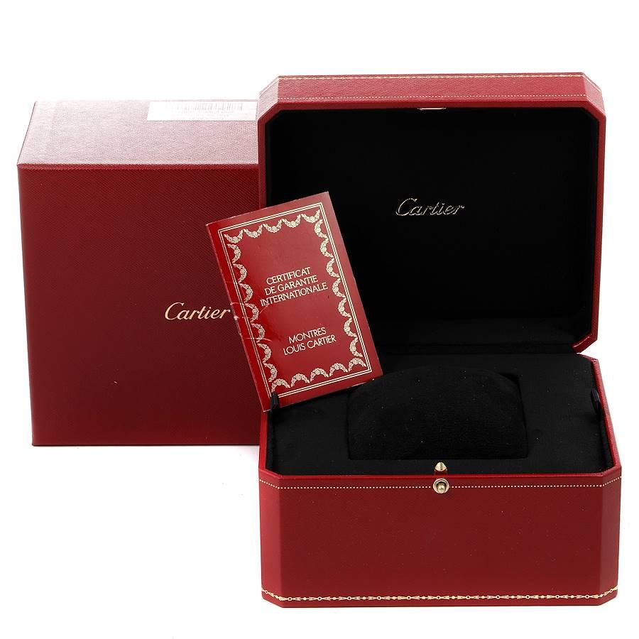 Cartier Tank Americaine Yellow Gold Diamond Mens Watch WB702051 Box Papers SwissWatchExpo