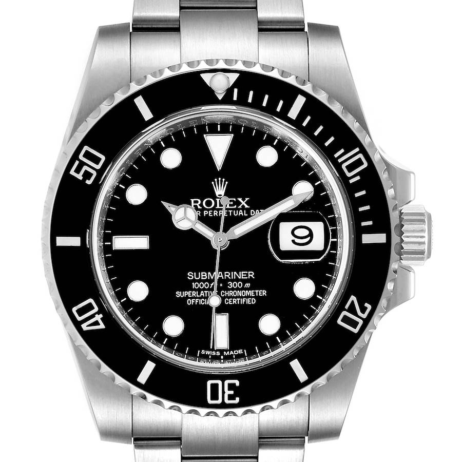 Rolex Submariner Ceramic Bezel Steel Mens Watch 116610 Box Card SwissWatchExpo