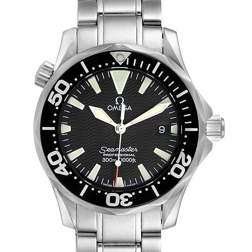 Photo of Omega Seamaster James Bond 36 Midsize Black Wave Dial Watch 2262.50.00 Card