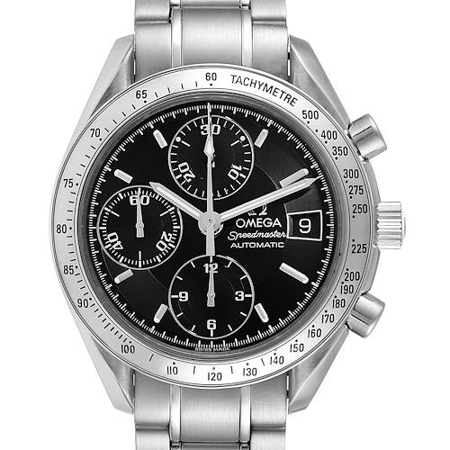 Photo of Omega Speedmaster Date Black Dial Automatic Steel Mens Watch 3513.50.00