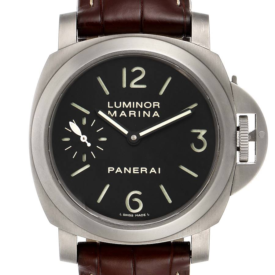 Panerai Luminor Marina 44mm Titanium Mens Watch PAM00177 Box Papers SwissWatchExpo