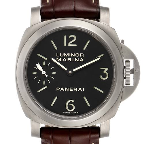 Photo of Panerai Luminor Marina 44mm Titanium Mens Watch PAM00177 Box Papers