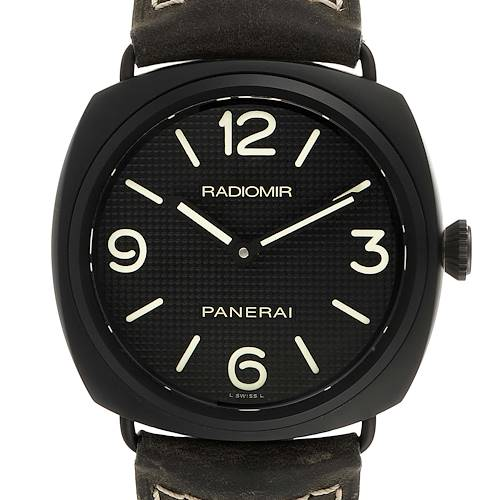 Photo of Panerai Radiomir 45mm Black Seal Ceramic Mens Watch PAM00643 Box Papers
