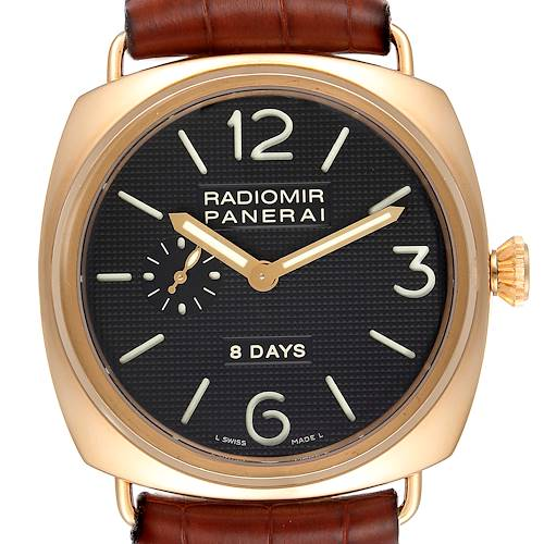 Photo of Panerai Radiomir 8 Days 45mm 18k Rose Gold Mens Watch PAM00197