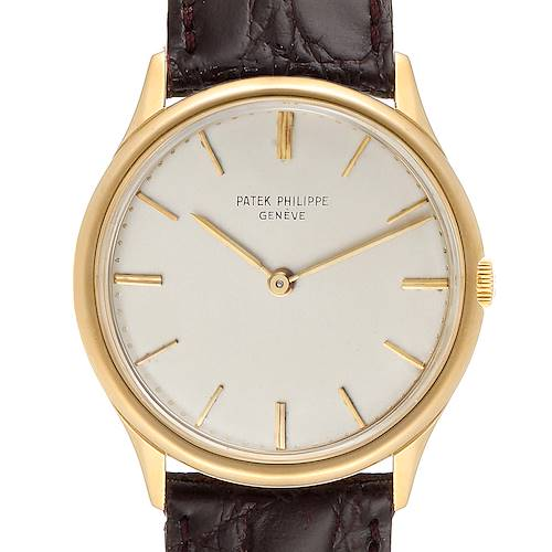 Photo of Patek Philippe Calatrava Yellow Gold Vintage Mens Watch 2588