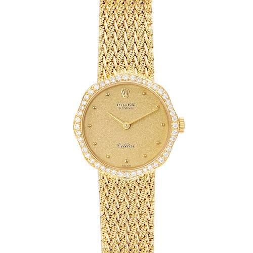 Photo of Rolex Cellini Classic 24mm Champagne Dial Yellow Gold Ladies Watch 4973