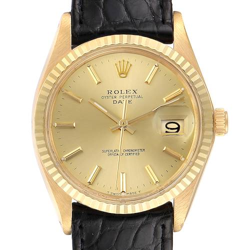 Photo of Rolex Date 14K Yellow Gold Automatic Vintage Mens Watch 1503