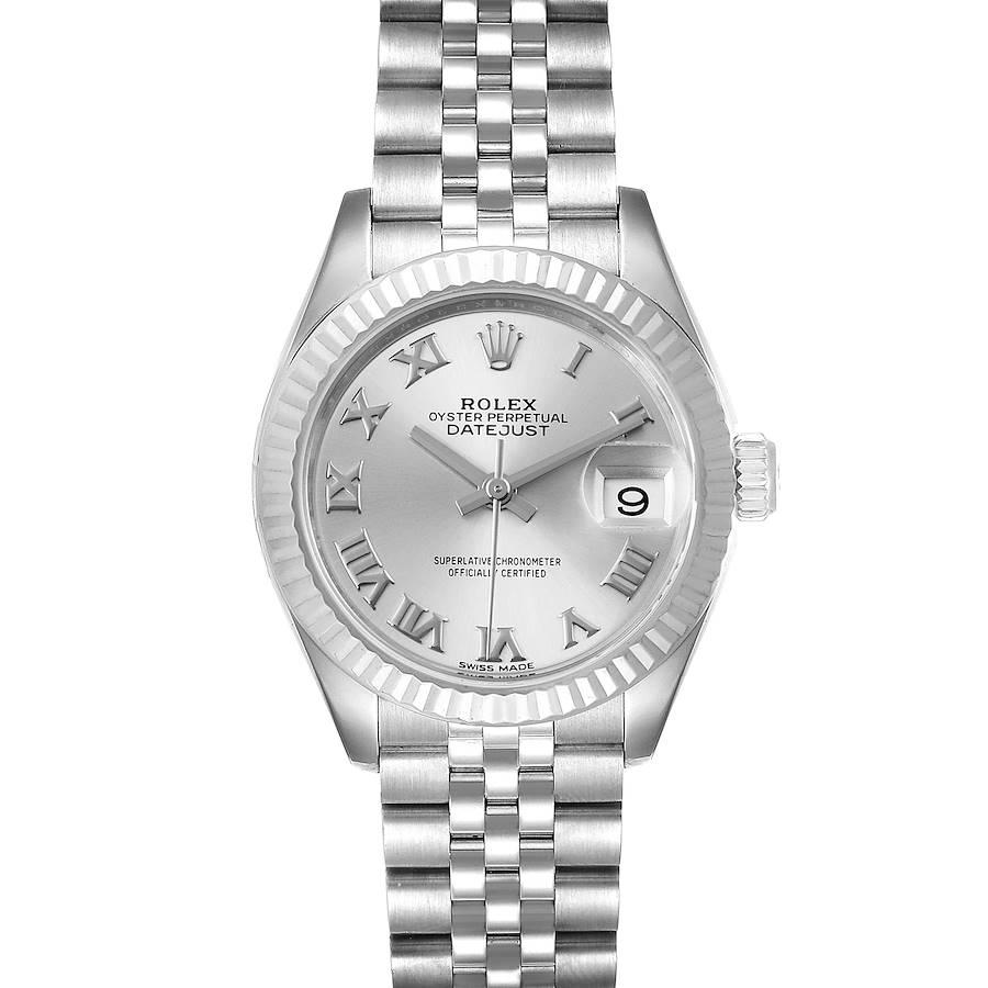 Rolex Datejust 28 Steel White Gold Ladies Watch 279174 SwissWatchExpo